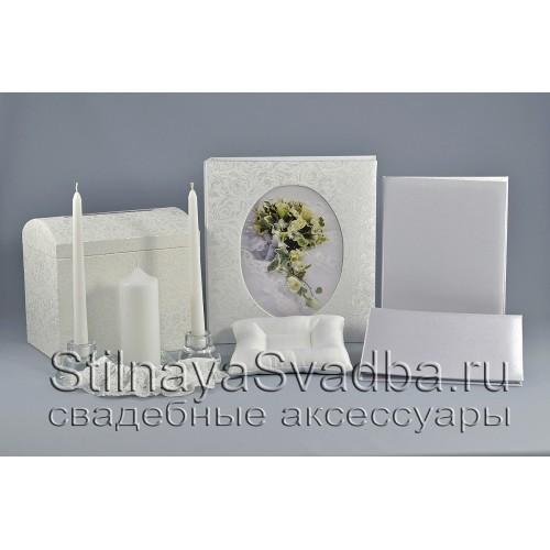 Набор заготовок свадебных аксессуаров белый фото