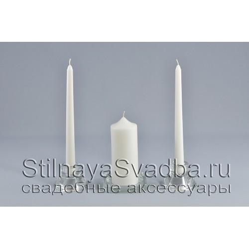 Комплект свечей домашний очаг белого цвета  фото