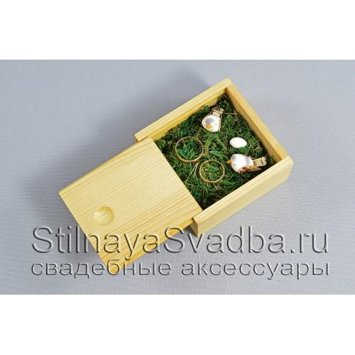 Деревянная миниатюрная шкатулочка для осенней свадьбы фото