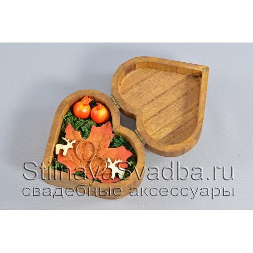 Деревянная шкатулка для осенней свадьбы фото