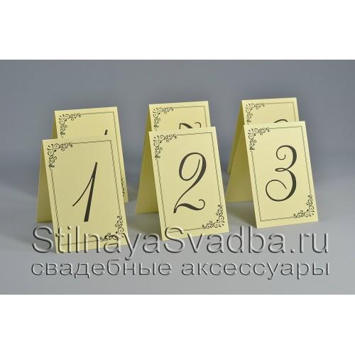 Номер для столиков  в цвете айвори фото