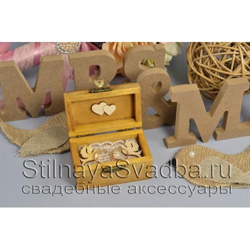 Деревянная шкатулка для  рустикальной свадьбы  фото