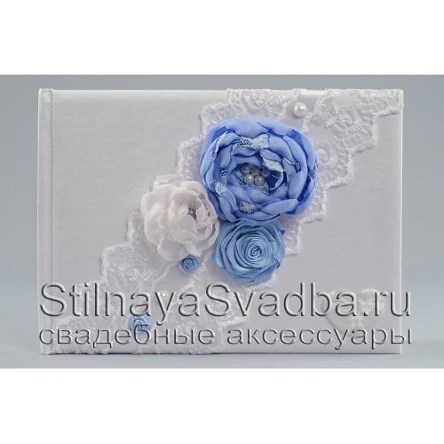 Свадебные аксессуары в небесно-голубом цвете. Фото 000.