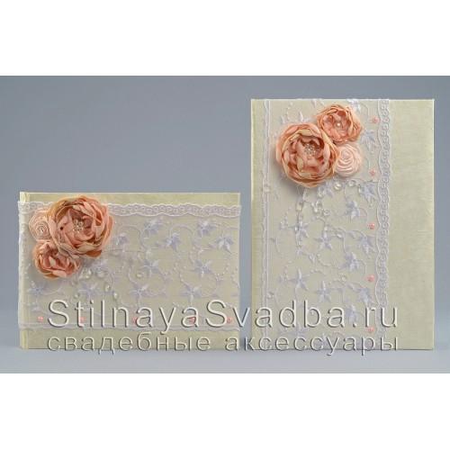Папка  в персиково-пудровом цвете  . Фото 000.