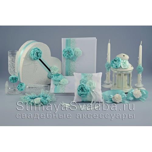 Коллекция свадебных аксессуаров Мятный хрусталь фото