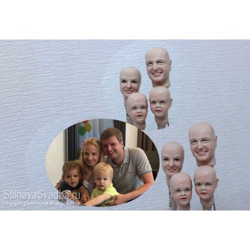 Портретные куклы  Молодая семья. Фото 000.