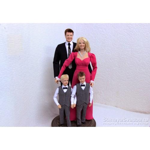 Портретные куклы  Молодая семья фото