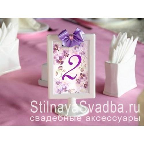 Номерки для столов с орхидеями  фото