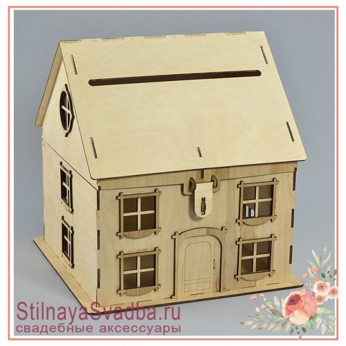 Казна дом деревянный с открывающейся крышей фото