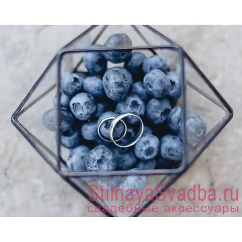 Флорариум для обручальных колец  c  ягодами голубики фото