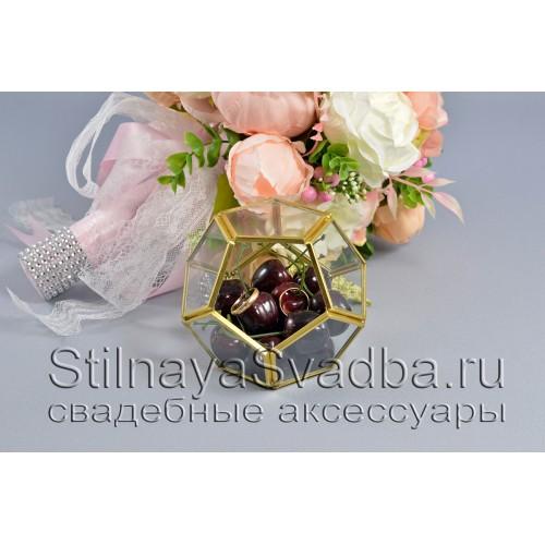 Флорариум в форме додекаэдра с черешней фото