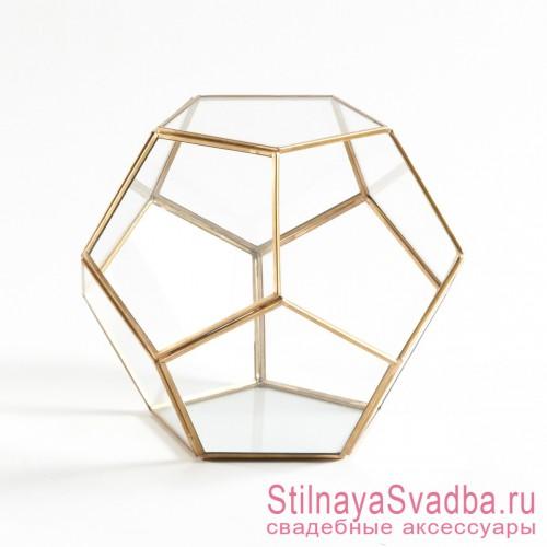 Геометрический флорариум в форме додекаэдра фото