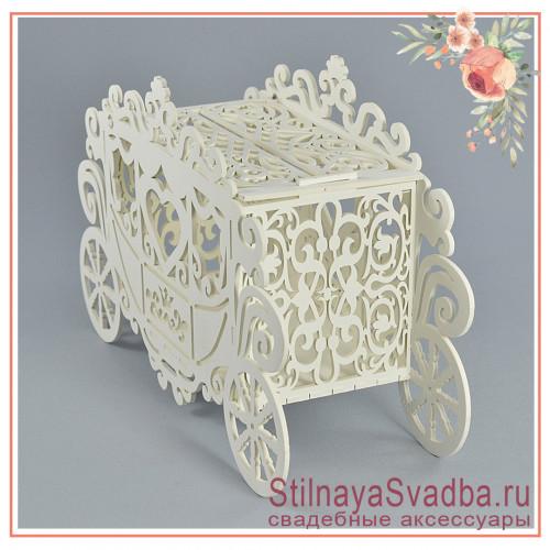 Казна  карета деревянная свадебная  фото