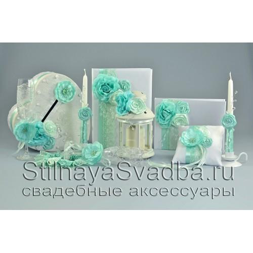 Коллекция свадебных аксессуаров Мятный хрусталь-2 фото