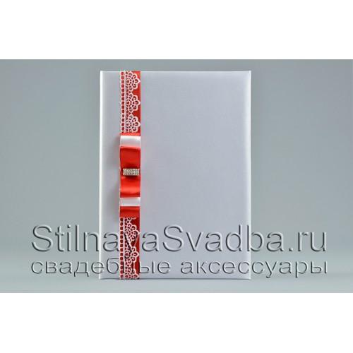Папка для свидетельства, Красный рубин фото