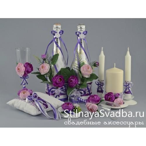 Аксессуары на свадьбу Лиловая роза  фото