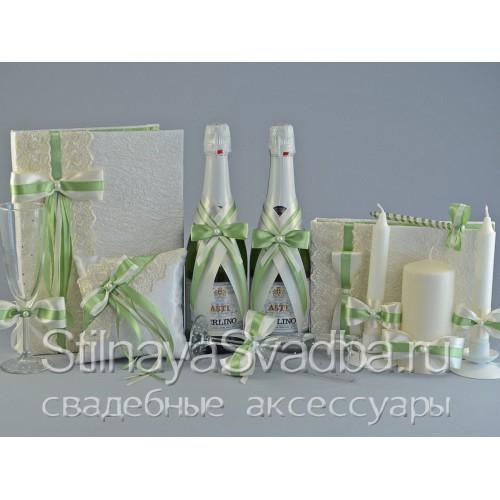 Фото. Коллекция свадебных аксессуаров Фисташка