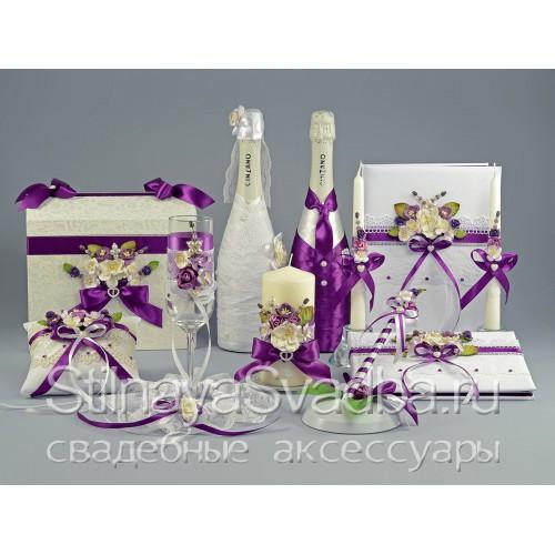 Свадебные аксессуары по мотивам Royal purple  фото