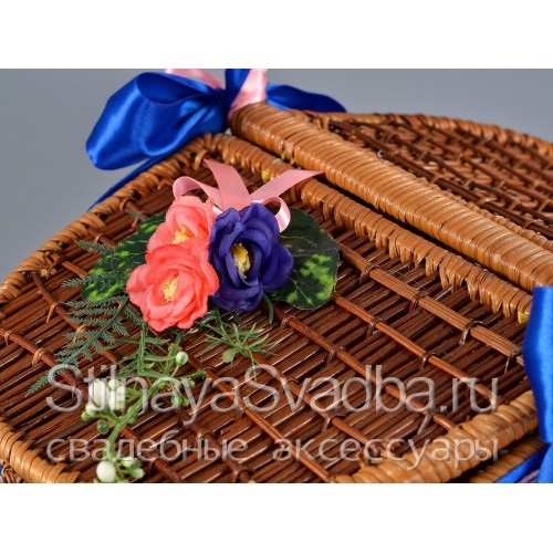Сине-розовая коллекция свадебных аксессуаров . Фото 000.