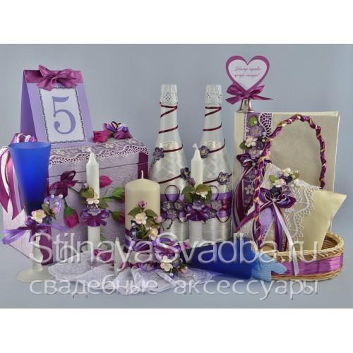 """Фото. Коллекция свадебных аксессуаров """"Violet dreams"""""""