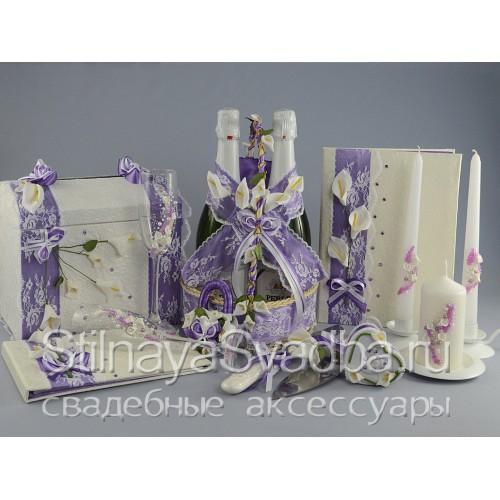 Коллекция свадебных аксессуаров Нежные каллы  фото