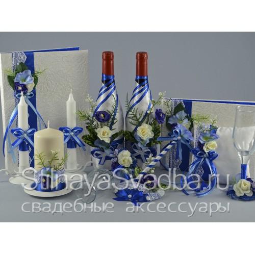 Коллекция свадебных аксессуаров Лазурь  фото