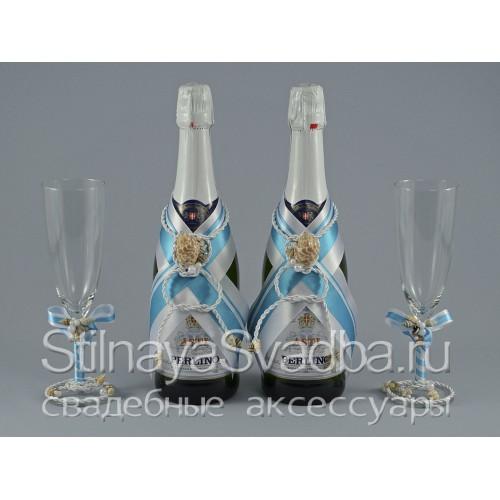 Морские аксессуары на свадьбу Голубая лагуна. Фото 000.