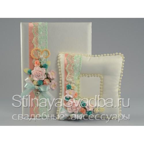 Фото. Мини - набор аксессуаров в цвете мяты