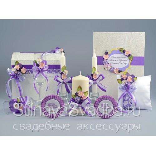 Фото. Коллекция свадебных аксессуаров Сиреневая дымка