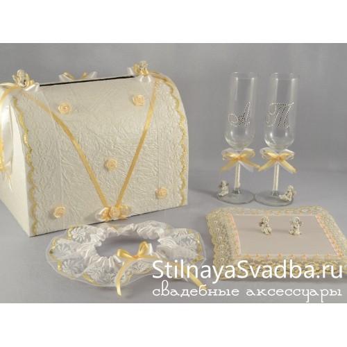 Набор свадебных аксессуаров Ангелы фото