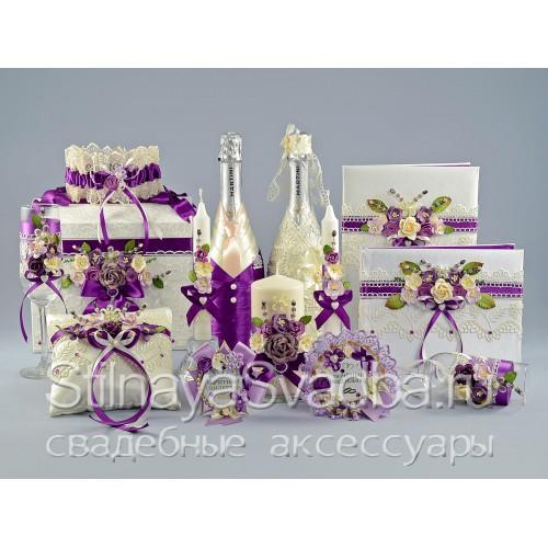 Свадебные аксессуары Royal purple  фото