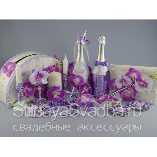 """Фото. Коллекция свадебных аксессуаров """"Лиловая орхидея"""""""