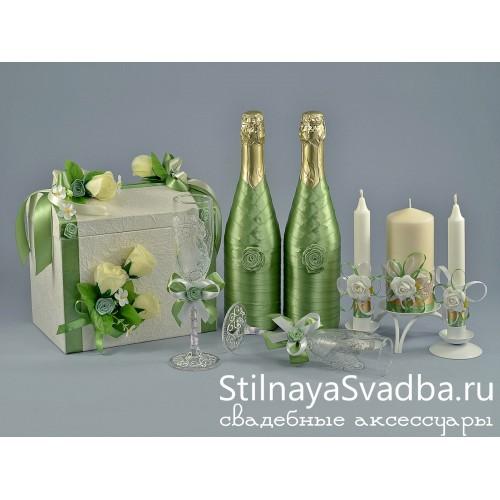 Набор свадебных аксессуаров Лайм  фото