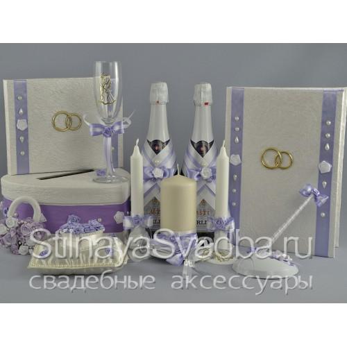 Фото. Коллекция свадебных аксессуаров Нежная сирень