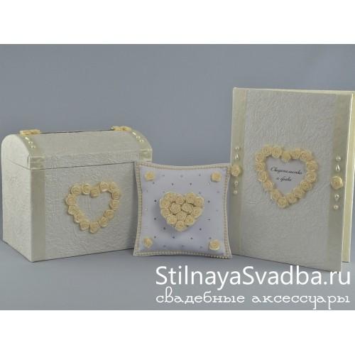 Набор аксессуаров Ванильное сердце  фото