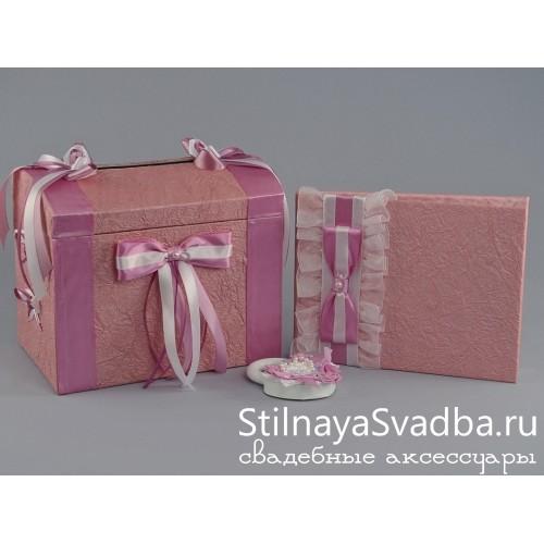 Розовый сундучок и альбом на свадьбу  Бэкки фото