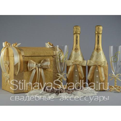 Коллекция  свадебных аксессуаров Gold фото