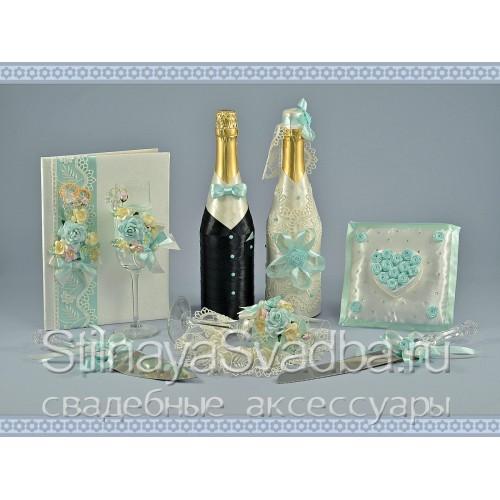 Свадебный комплект Мятный аромат  фото