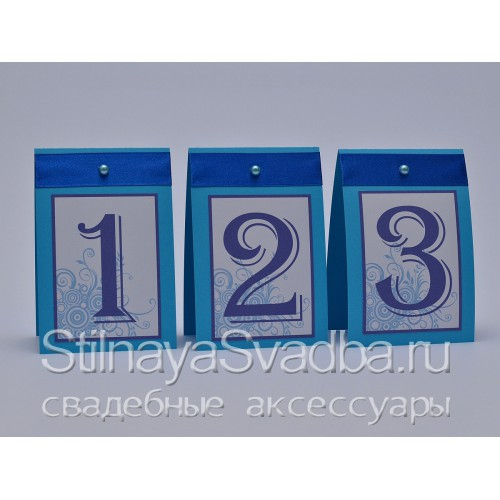 Номерки для столиков гостей с бусинкой  фото