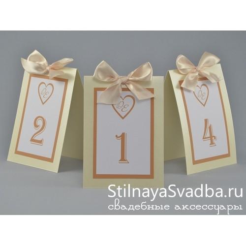 Карточки с номерами для столиков  фото