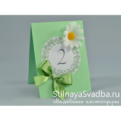 Номерки для столика c ромашками  фото