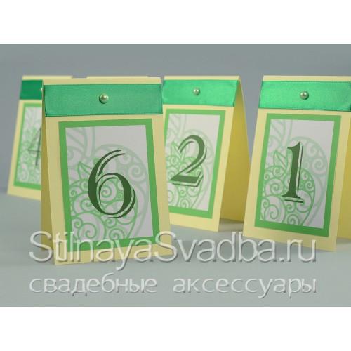 Номерки для столиков гостей в яблочном стиле  фото