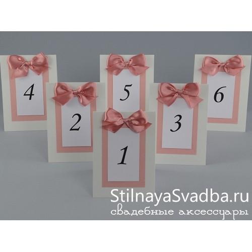 Номер для столика Розовый крем  фото