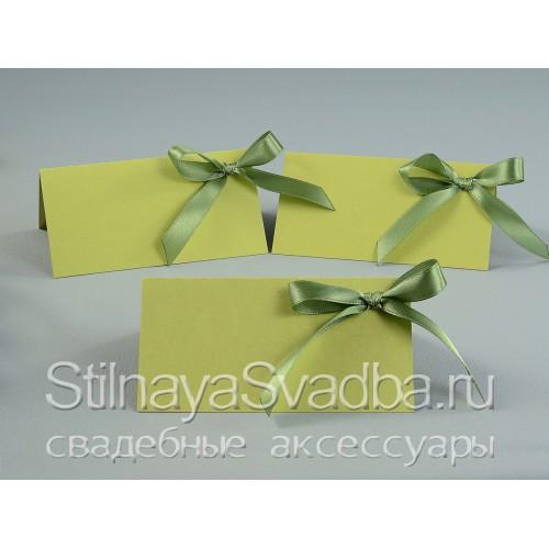 Зелёные гостевые карточки  фото