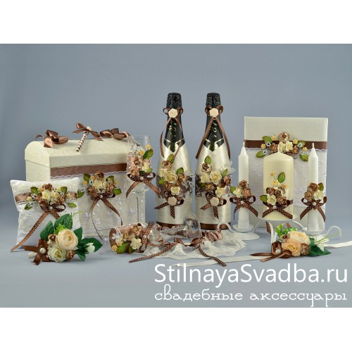 Бутоньерка Ваниль и шоколад . Фото 000.