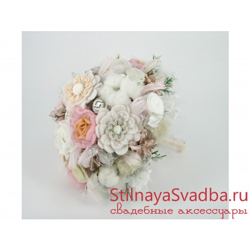 Фото. Зимний букет невесты Морозное утро