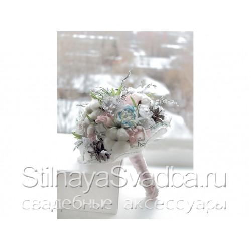 Букет зимний свадебный Зимняя сказка . Фото 000.