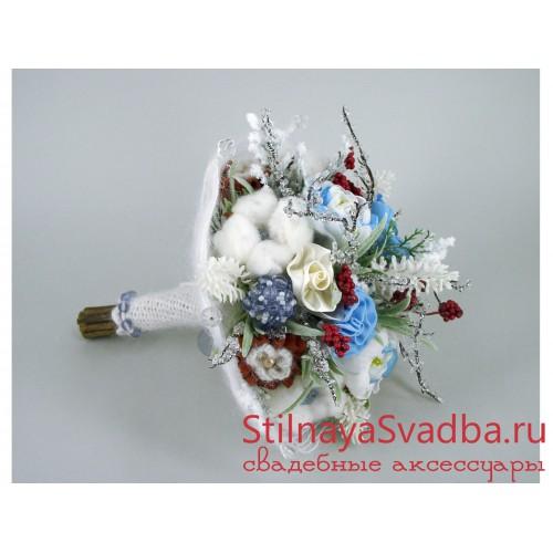 Букет зимний свадебный Февраль . Фото 000.