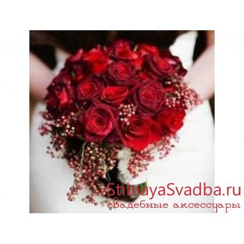 Красный бархат, зимний букет  фото