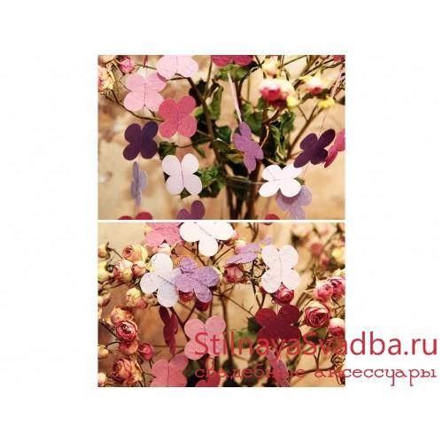 Гирлянда с цветами  фото